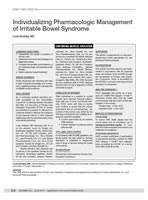 Individualizing Pharmacologic Management of Irritable Bowel Syndrome